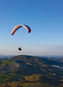 Evening soaring in southern Spain