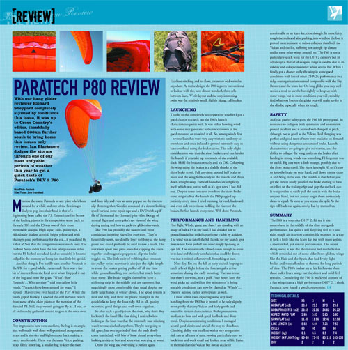 From the XCmag archive... the Paratech P80 review