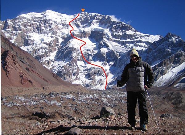 Aconcagua descent, the route. Photo: acro-base.com