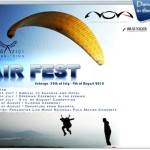 Paragliding festival and accuracy competition near Istanbul, Turkey