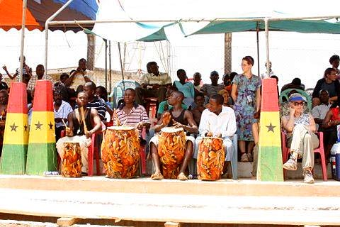 Local musicians at the 2009 Ghana Paragliding Festival
