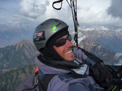 Brad Sander, high above the Himalaya.
