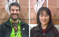 Lucas Bernardin of France and Japan's Tomomi Masuko, happy winners of PWC Japan 2010