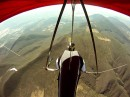 Rodrigo de obeso flying his hang glider over the Mexican countryside: he went on to win the 2010 Mexican Nationals