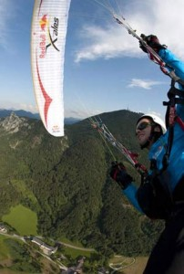 Turnpoint 1, the Gaisberg, overlooking Salzburg. Photo: www.redbullxalps.com
