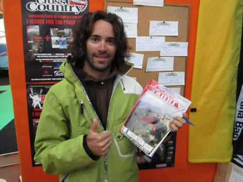Antoine Boisellier poses with the latest issue of XCmag – it's him on the cover