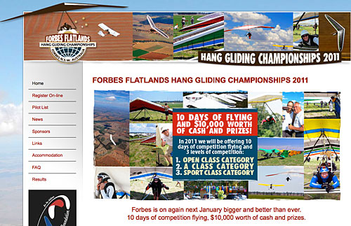Forbes Flatlands 2011 hang gliding competition in Australia