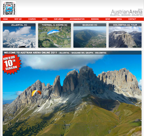 Austrian Arenas have revamped their website for 2011