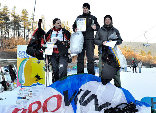 Poland's first speed riding championships: Arkadiusz Sabat wins. Photo: Piotr Krupa