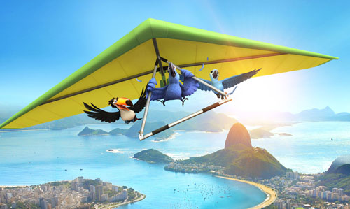 Hang gliding over Rio, the movie version. Image: 20th Century Fox