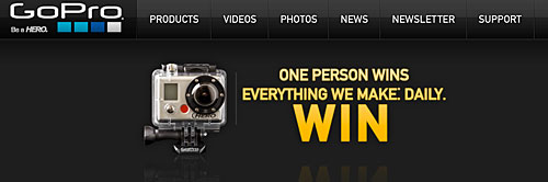 Win a GoPro HD camera every day