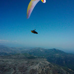345km across the Alps by paraglider