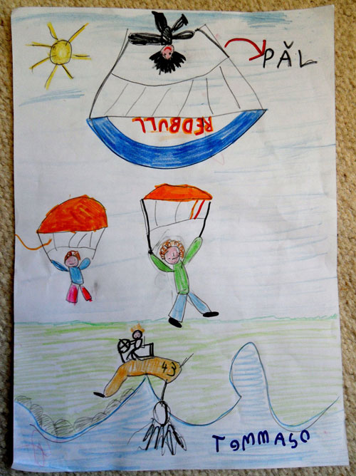 Pal Takats executing the Infinite Tumble on his way to winning the Acro World Cup. Illustration: A six-year-old fan