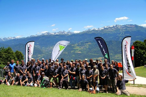 Group photo of the competitors and their supporters