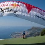 Paragliding at Monaco/Roquebrune suspended