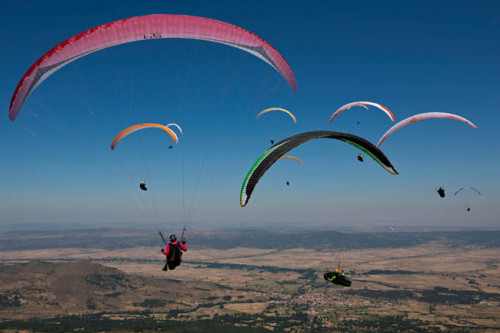 2011 Paragliding World Championships Task 1 - Photo- Martin Scheel