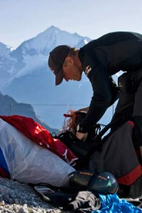 Advances in paragliding technology mean that athletes in the 2011 edition of the Red Bull X-Alps can condense all of their kit into a seven kilogram package