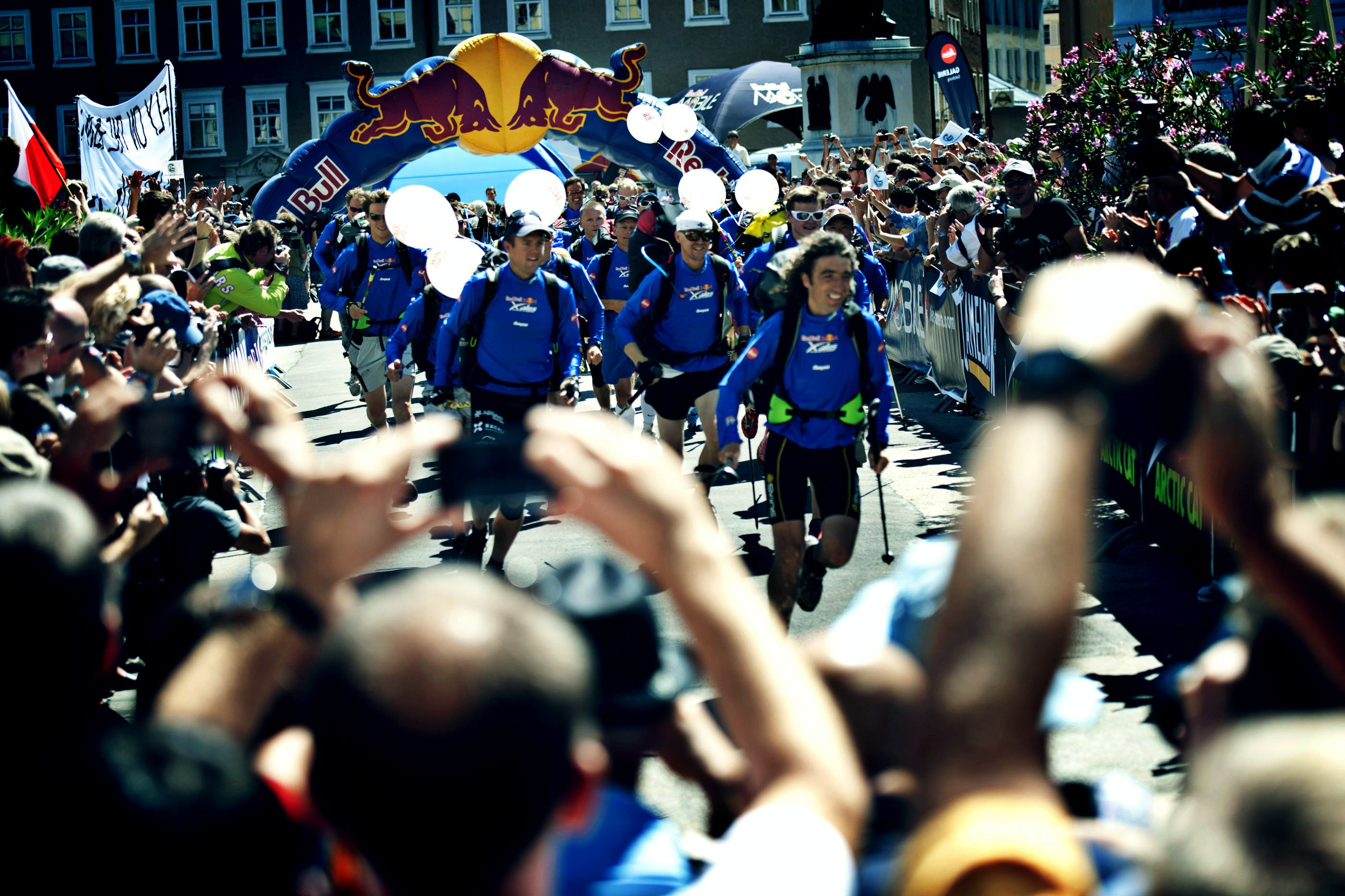 Red Bull X-Alps 2011 - Go! Go! Go! The race begins... Photo: Red Bull