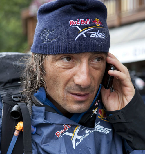Toma Coconea on his way to the Tre Cime turnpoint on 20 July 2011. Photo: Red Bull X-Alps