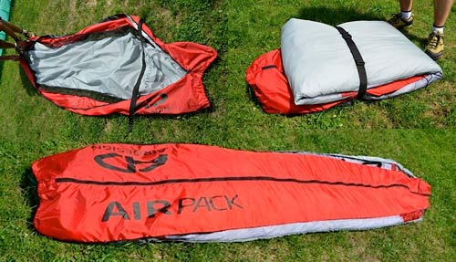 Air Design's AIRpack paraglider concertina-packing bag