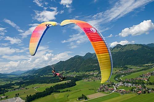 Gradient paragliding