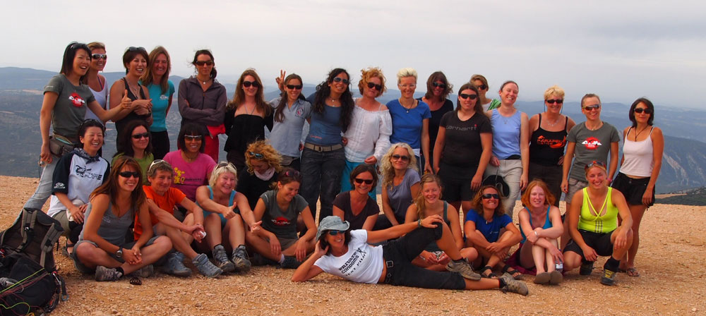 Class of 2011: Las Chicas at the Ager Women's Paragliding Open 2011 (Click for a bigger version). Photo: Judith Mole