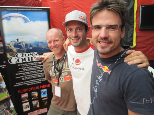 Himalayan Kingdom ... L-R Bob Drury, Tom de Dorlodot and Horacio Llorens on the XCmag stand