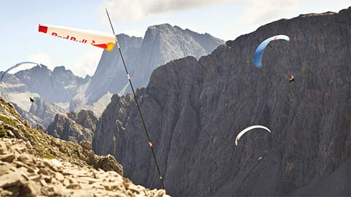 Paragliding at the Red Bull Dolomitenmann 2011