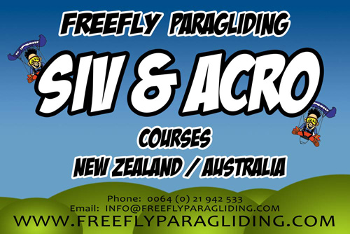 Freefly Paragliding SIV and acro courses