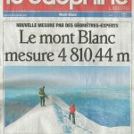 Mont Blanc 4,810m: has it grown?