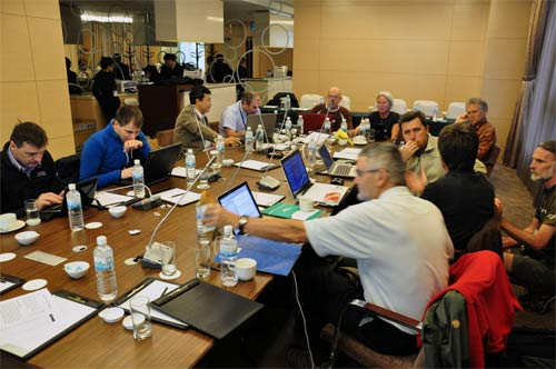 Delegates at the CIVL plenary meeting in Chinese Taipei, February 2012
