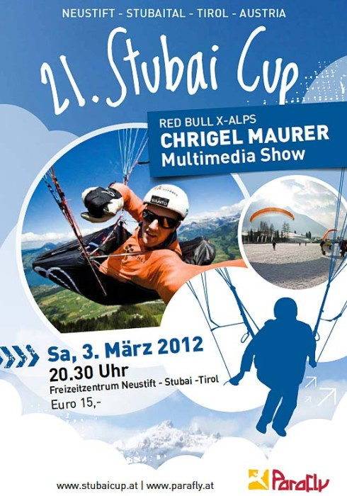 Stubai Cup and Testival 2012 Chrigel Maurer poster