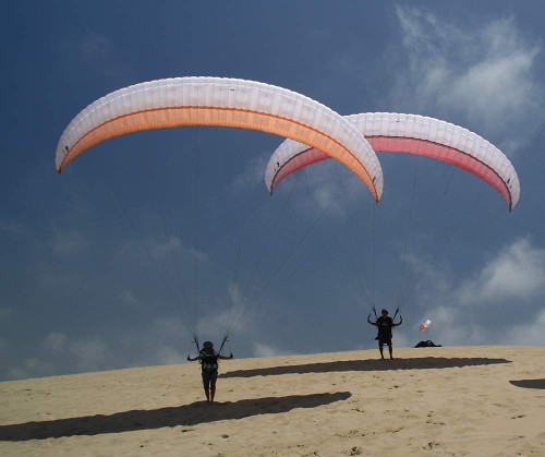 UP's new basic intermediate paraglider for 2012, the Makalu 3