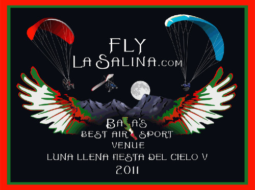 Fly La Salina moonlight fly-in poster