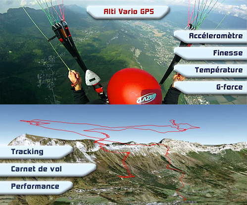 Syride Sys'ky paraglider flight logger, GPS and vario