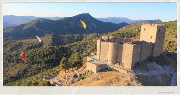 Flying above the castle at El Yelmo. Photo: Ant Green