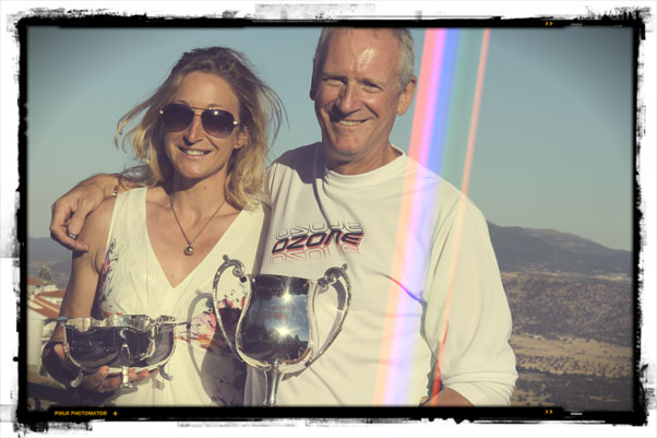 Emma Casanova and Steve Senior, new British Paragliding Champions. Photo: Marcus King