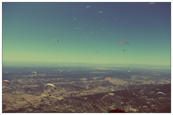 Blue skies in Pedro Bernardo, Spain, during the British Paragliding Championships 2012