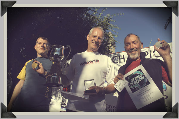 Championship podium: Dave Smart, Steve Senior and Adrian Thomas