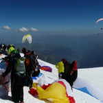 '50' pilots topland Mont Blanc as Chamonix sees record day