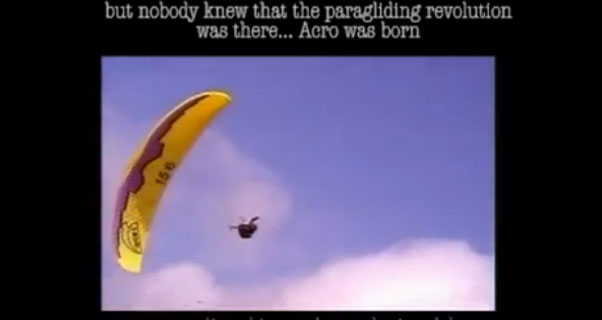 Days of discovery ... acro paragliding back in the 1990s