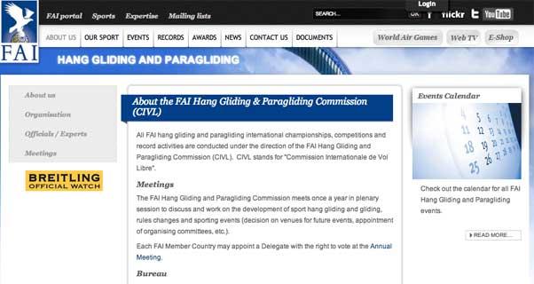 FAI CIVL website