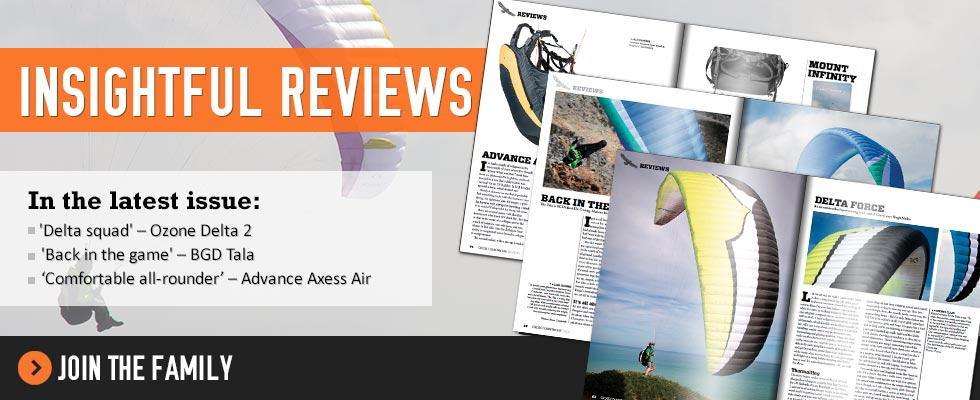 Insightful Reviews in Cross Country issue 147: Ozone Delta 2, BGD Tala, Advance Axess