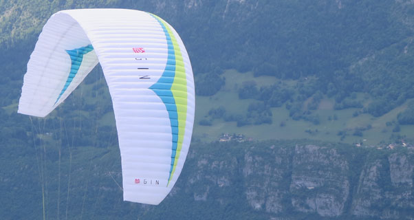GIN's new X-Alps 2013 paraglider. Photo: Ed Ewing