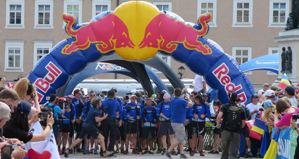 Red Bull X-Alps 2013 race start. Photo: Ed Ewing