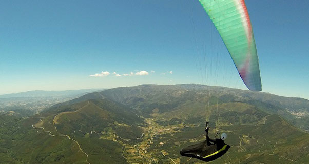 Flying in the southern French Alps. Photo: Bruce Goldsmith