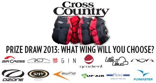 Subscribe and win a paraglider: Cross Country prize draw 2013