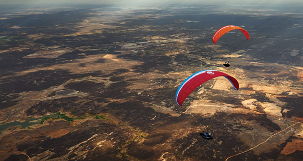 Paragliding in Quixada, Brazil. Photo: Felix Wolk