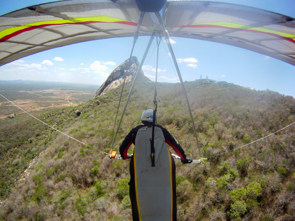 Hang gliding in Quixada