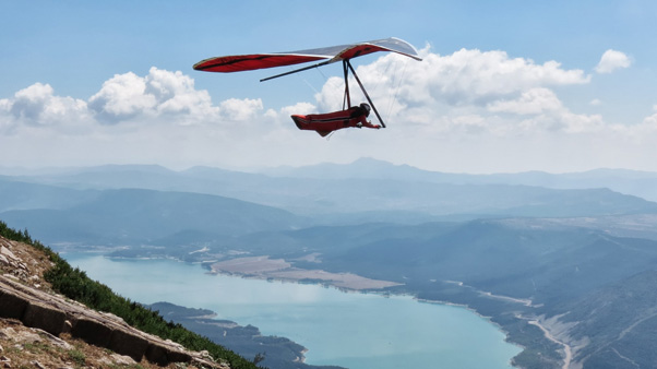Take off at Arangoiti, the location for the cancelled European Hang Gliding Championships. Photo: Rakel Albeniz